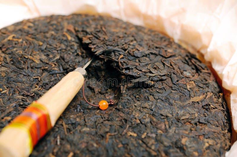 Zwarte puerthee stock foto's