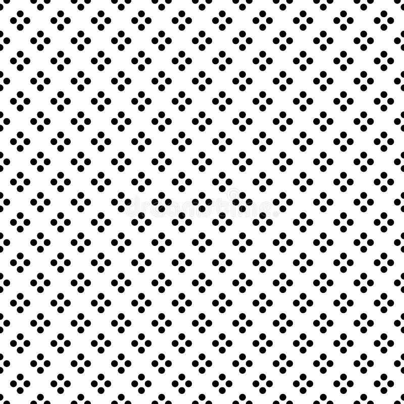 Zwarte Punt in Diamond Shape op Witte Naadloze Achtergrond Vector illustratie vector illustratie