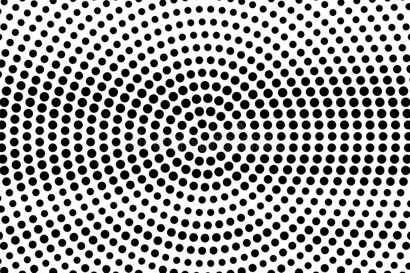 Zwarte punten op witte achtergrond Samenvatting geperforeerde oppervlakte Grunge halftone vectortextuur Gecentreerde dotwork grad stock illustratie