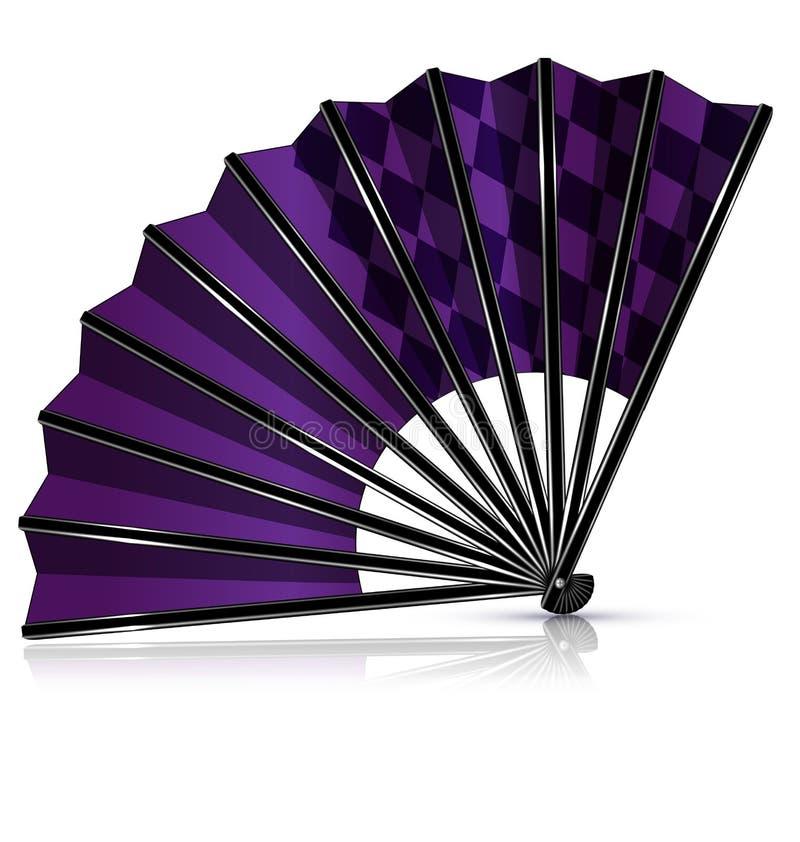 Zwarte purpere ventilator stock illustratie