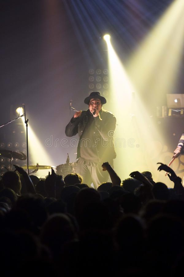 Zwarte rapper royalty-vrije stock foto