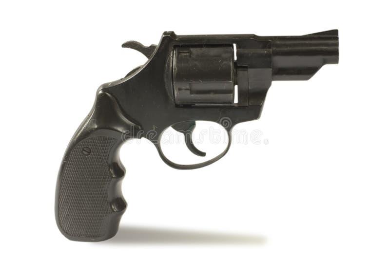 Zwarte revolver royalty-vrije stock fotografie