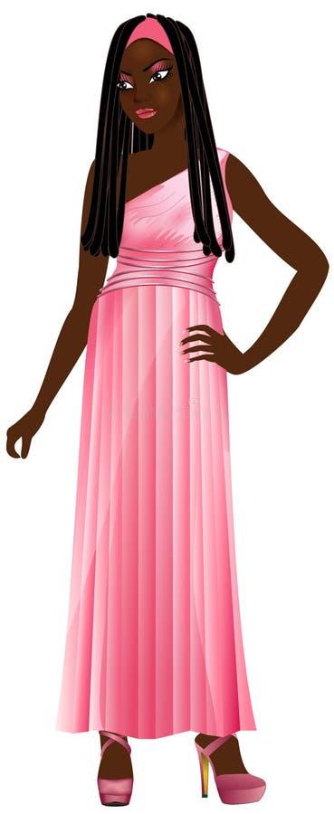 Zwarte Roze Toga royalty-vrije illustratie