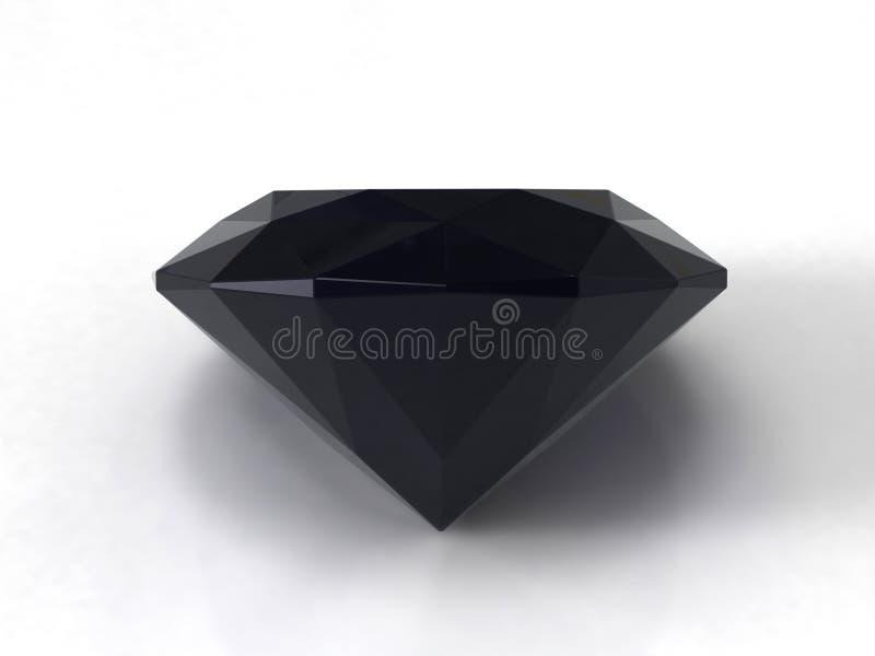 Zwarte saffierhalfedelsteen stock illustratie