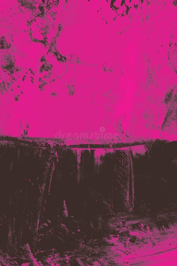 Zwarte samenvatting op roze royalty-vrije illustratie
