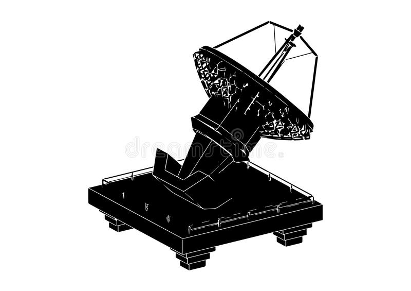 Zwarte SatellietSchotel royalty-vrije illustratie