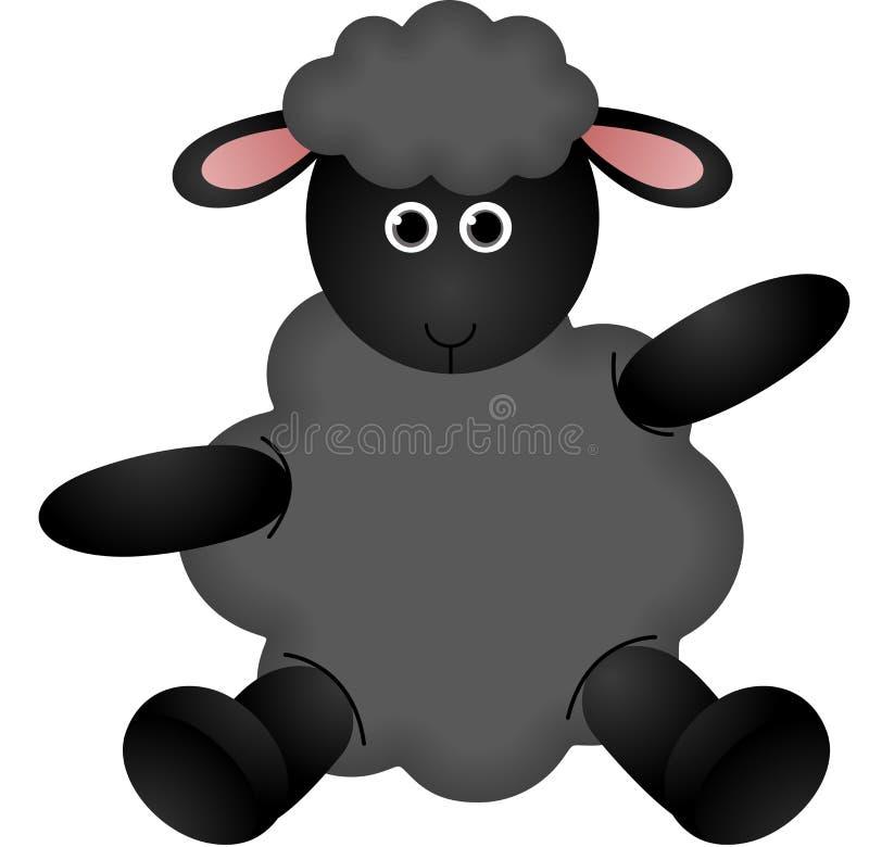 Zwarte schapen vector illustratie