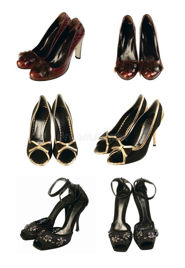 Zwarte Schoenen stock afbeeldingen