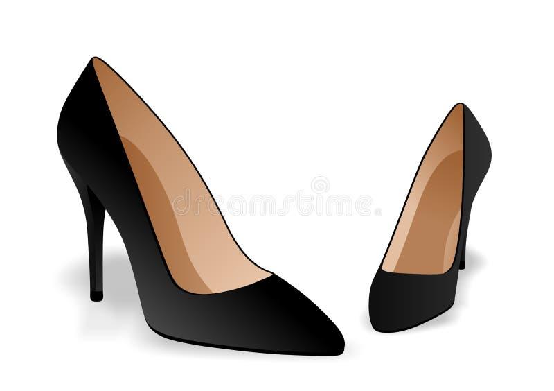 Zwarte schoenen stock illustratie