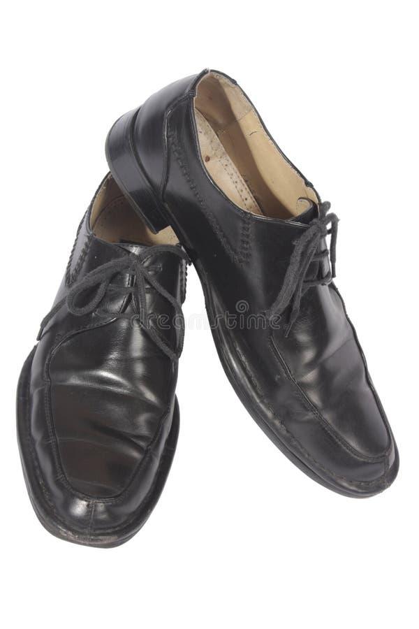 Zwarte schoenen, royalty-vrije stock fotografie