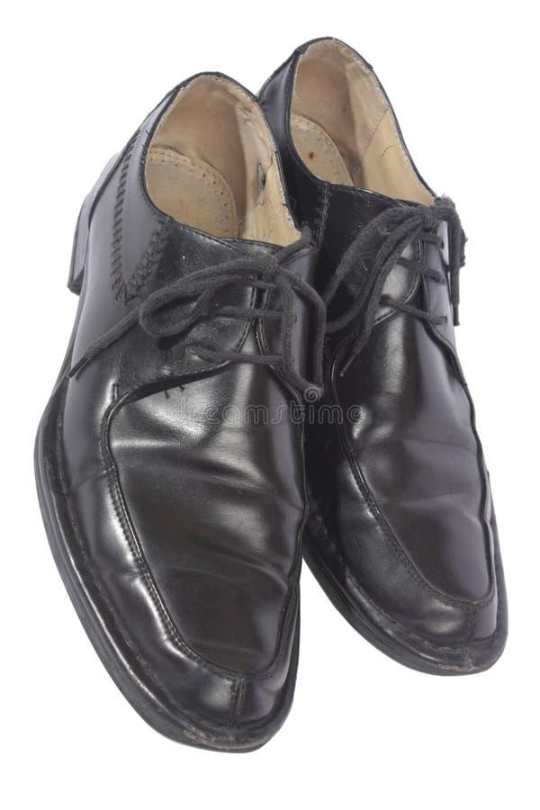Zwarte schoenen, stock fotografie