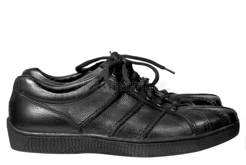 Zwarte schoenen royalty-vrije stock afbeeldingen