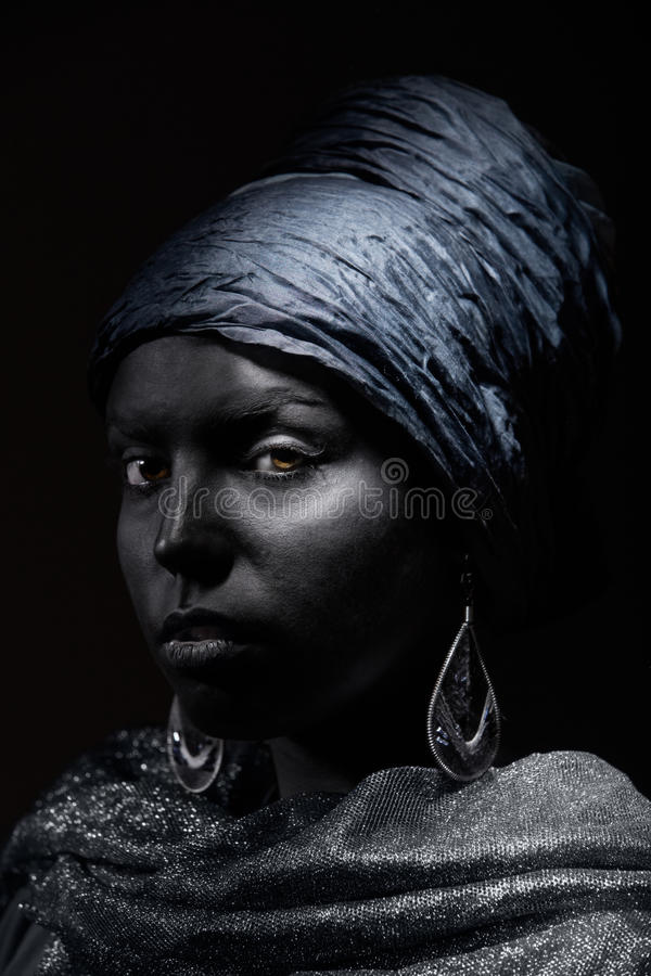Zwarte schoonheid royalty-vrije stock afbeeldingen