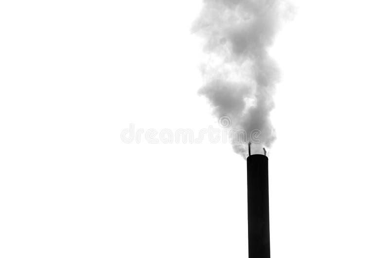 Zwarte schoorsteen op een witte achtergrond royalty-vrije stock afbeelding