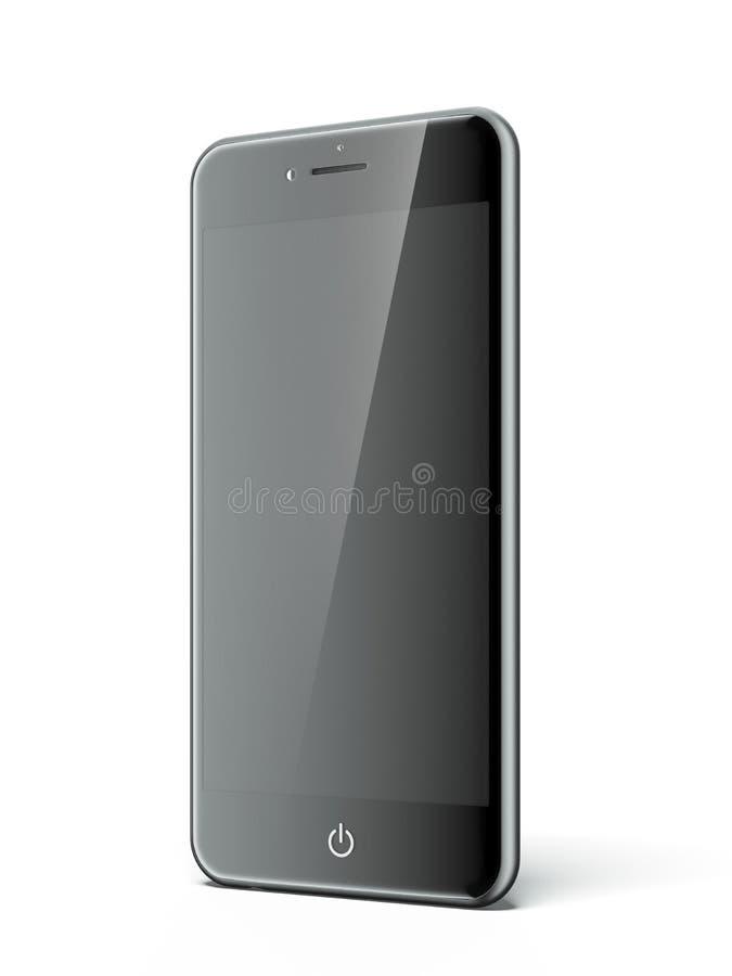 Zwarte Slimme telefoon stock illustratie