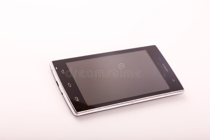 Zwarte smartphone royalty-vrije stock foto