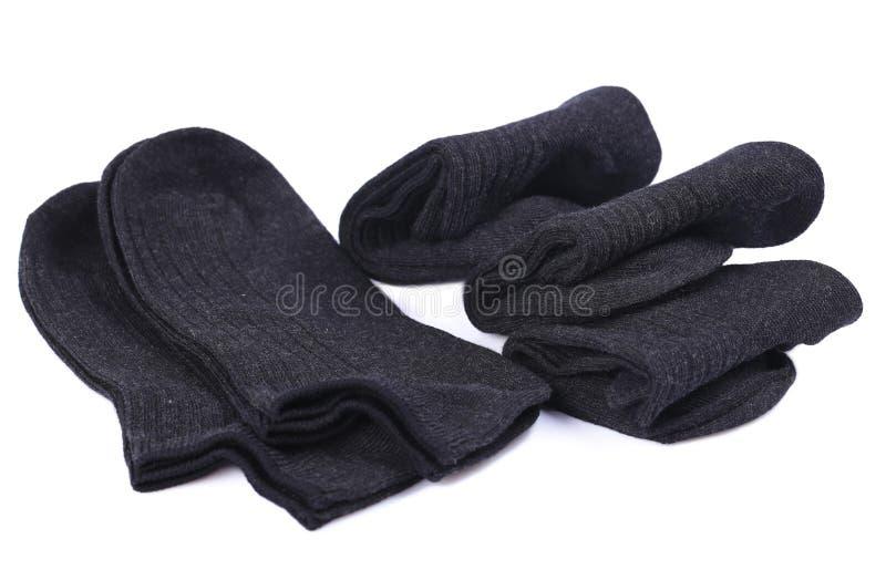 Zwarte sokken royalty-vrije stock foto's