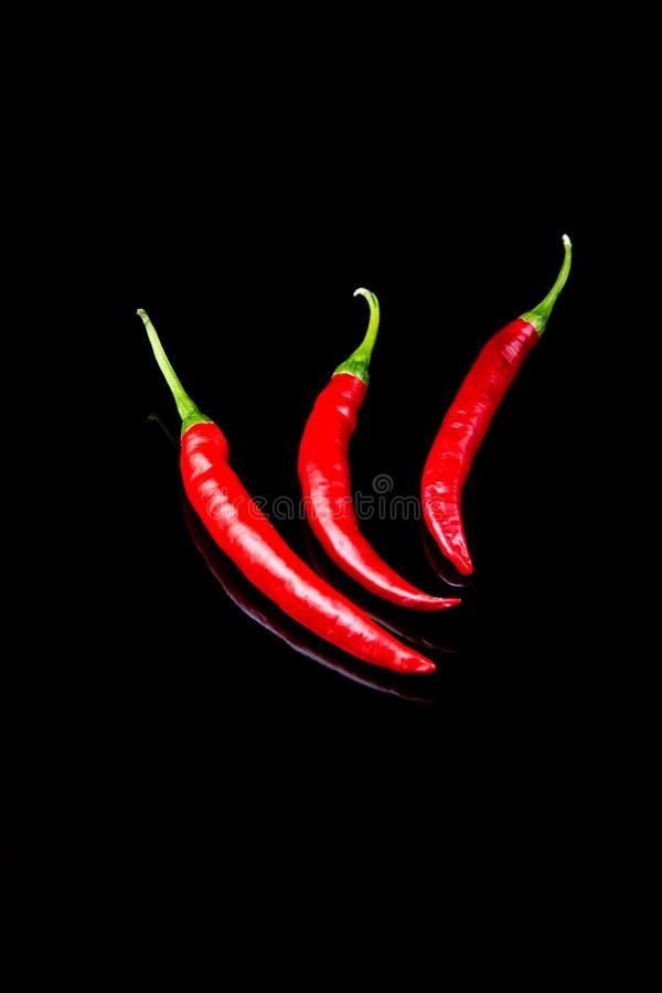Zwarte Spaanse pepers royalty-vrije stock foto's