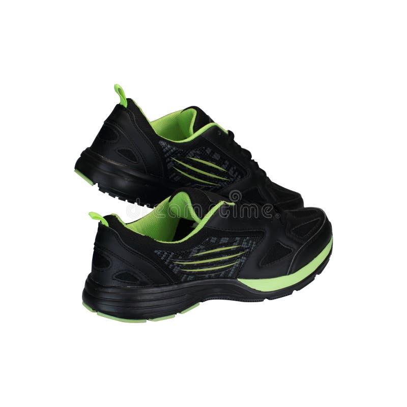 Zwarte sportenschoenen royalty-vrije stock foto's