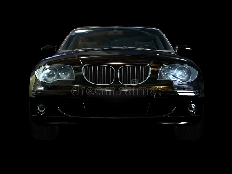 Zwarte sportwagen royalty-vrije illustratie