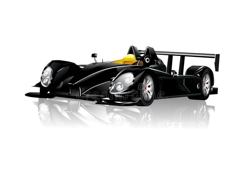 Zwarte Sportwagen Spyder royalty-vrije illustratie