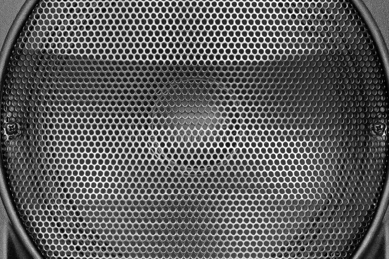 Zwarte staalgrating van luidsprekerstextuur royalty-vrije stock fotografie