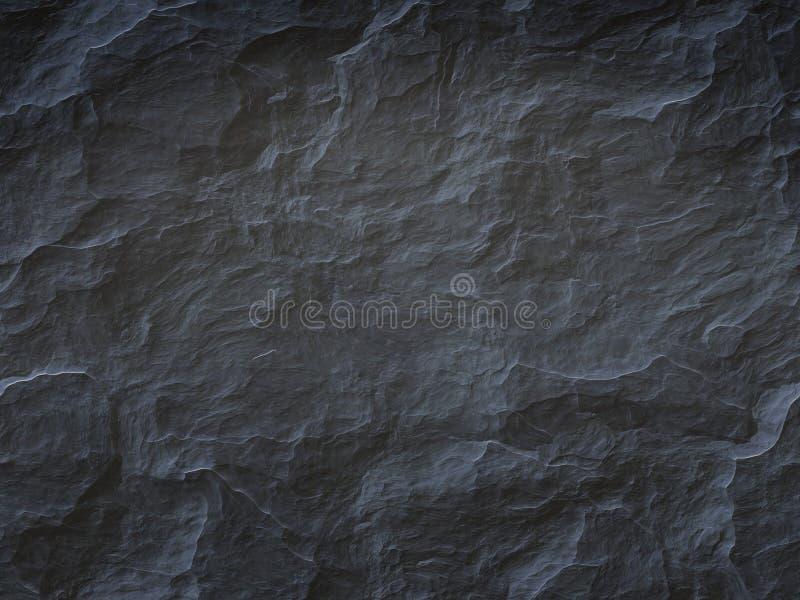 Zwarte steenachtergrond vector illustratie