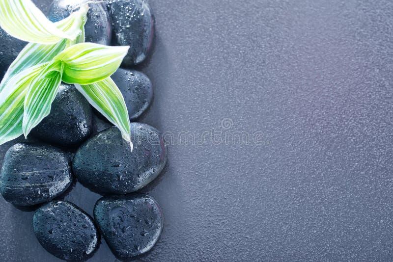 Zwarte stenen stock foto's