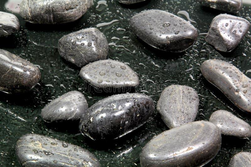 Zwarte stenen royalty-vrije stock fotografie