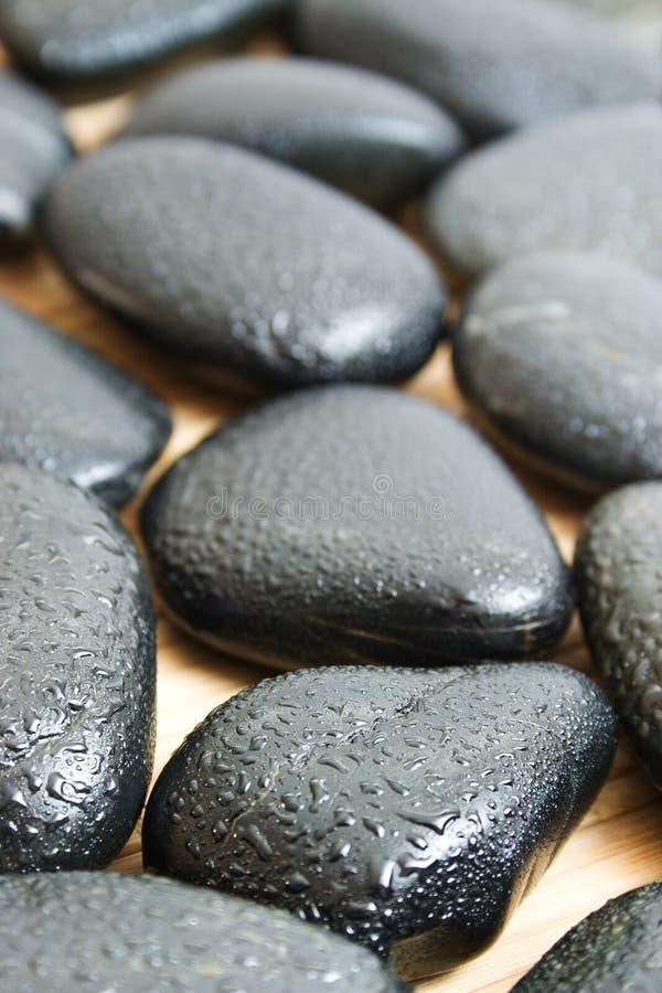 Zwarte stenen royalty-vrije stock afbeelding