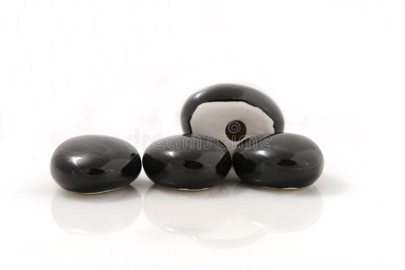 Zwarte stenen voor open haard royalty-vrije stock afbeelding