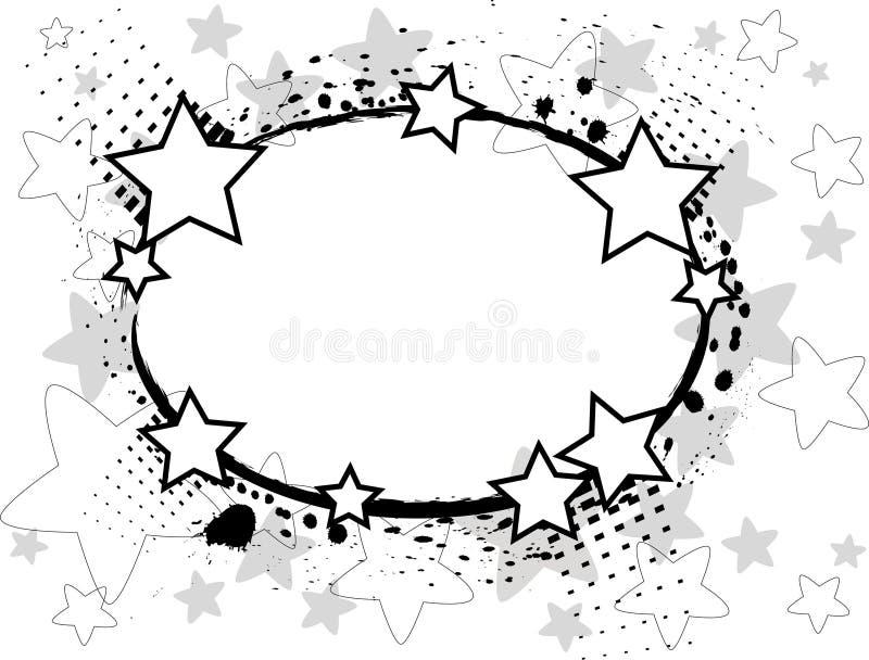 Zwarte sterren stock illustratie