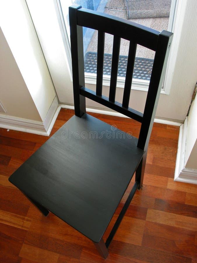 Zwarte stoel stock afbeelding