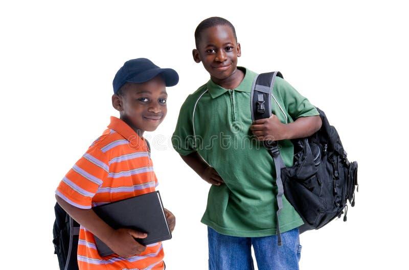 Zwarte Studenten royalty-vrije stock afbeelding