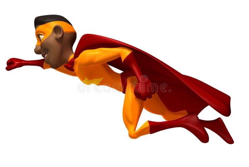 Zwarte superhero royalty-vrije illustratie