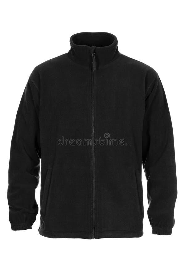 Zwarte sweatshirtvacht voor de mens royalty-vrije stock afbeelding