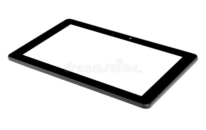 Zwarte tablet geïsoleerde achtergrond en het scherm royalty-vrije stock fotografie