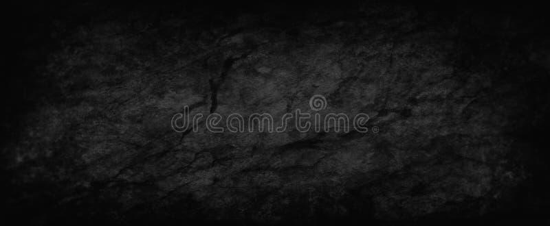 Zwarte textuur als achtergrond en grunge, oud verontrust houtskool grijs document met marmerverf en vuile gebarsten ruw stock illustratie