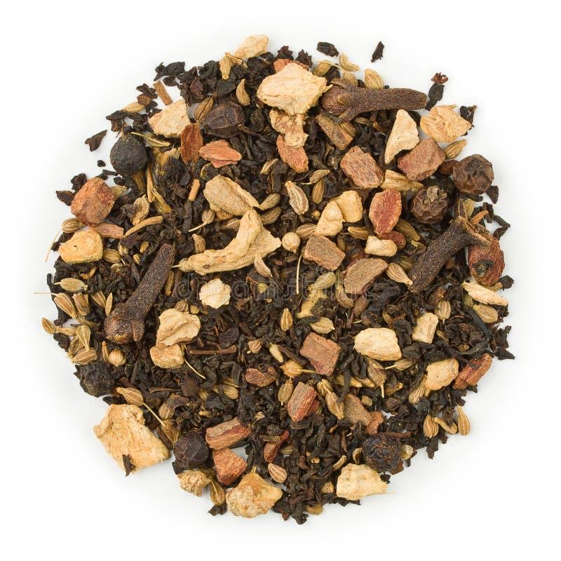 Zwarte thee kruidige chai stock afbeelding