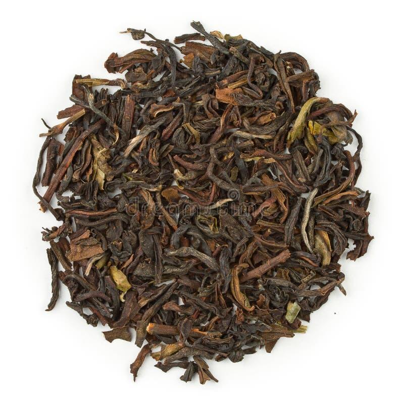 Zwarte thee organische Darjeeling stock afbeeldingen