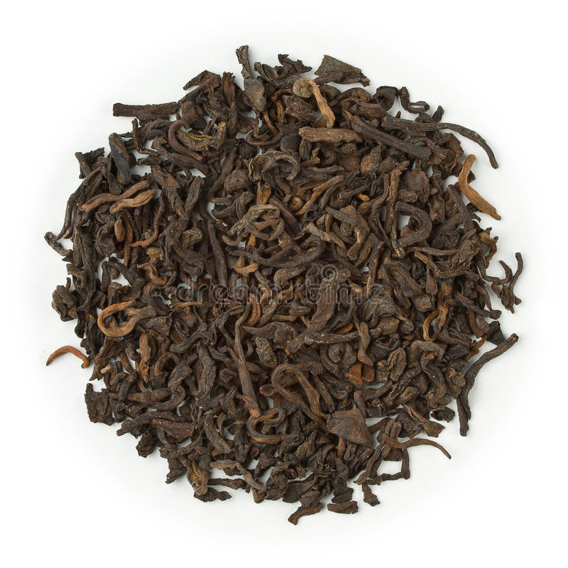 Zwarte thee Yunnan pu-Erh stock foto