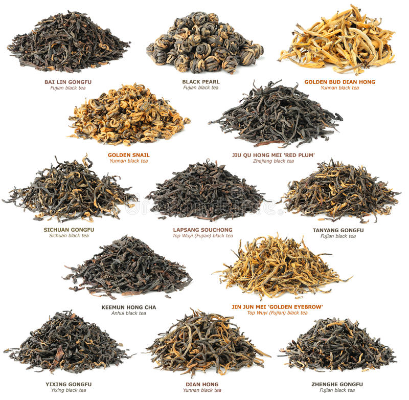 Zwarte theeinzameling stock foto's