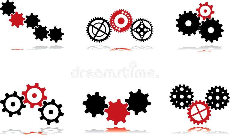 Zwarte toestellen - en rood - 3 stock illustratie