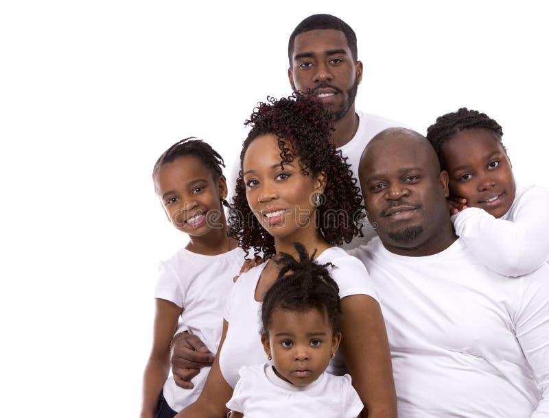 Zwarte toevallige familie royalty-vrije stock foto's