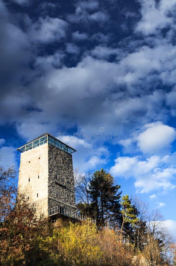 Zwarte Toren in Brasov, Transsylvanië, Roemenië stock afbeelding