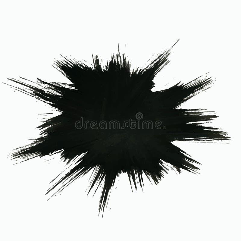 Zwarte Uitbarstingsachtergrond vector illustratie