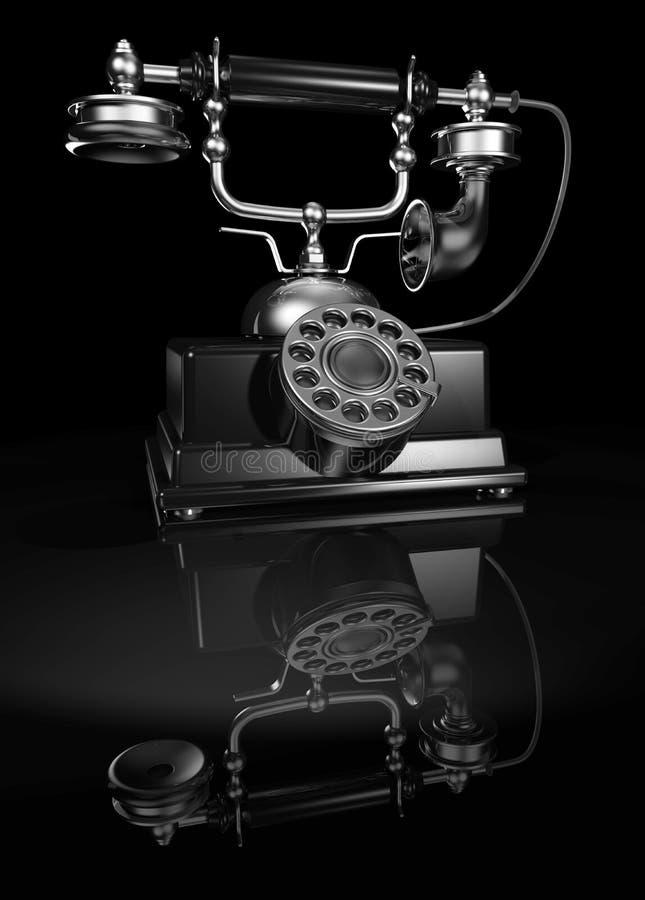 Zwarte uitstekende telefoon stock foto