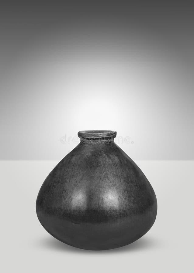 Zwarte vaas stock afbeelding