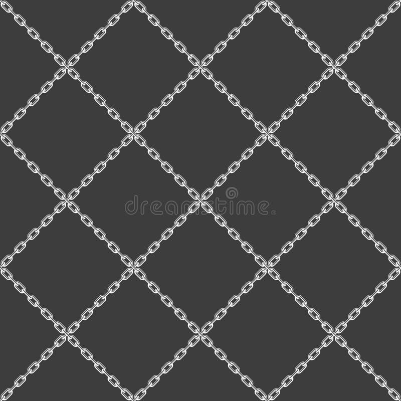 Zwarte van het kettings de naadloze patroon vector illustratie
