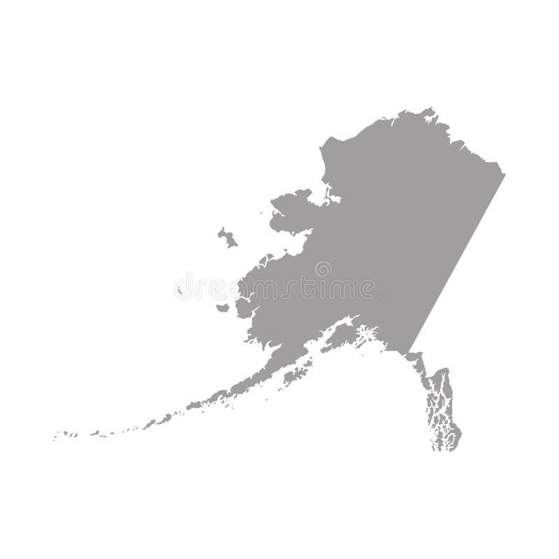 Zwarte vectorkaart van Alaska royalty-vrije illustratie